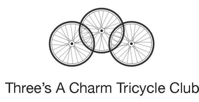 Three's a Charm Tricycle Logo